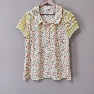 """ModCloth """"Cater to Your Quirks"""" Floral Top"""